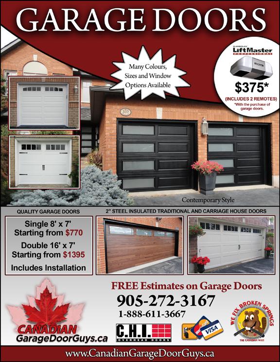 Canadian Garage Door Guys Special Offers